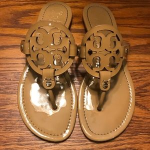 Tory Burch Tan Patent Leather Miller's